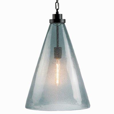 1-Light Mini Pendant Shade Color: Light Gray