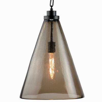 1-Light Mini Pendant Shade Color: Walnut Brown