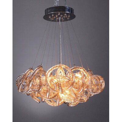 Infinity 5-Light Cluster Pendant Shade Color: Champagne