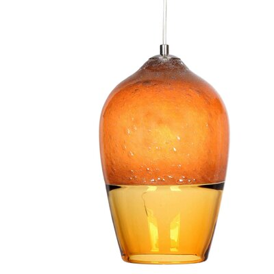 2-Light Geometric Pendant Shade Color: Orange