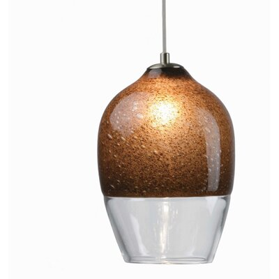 2-Light Geometric Pendant Shade Color: Chocolate Brown