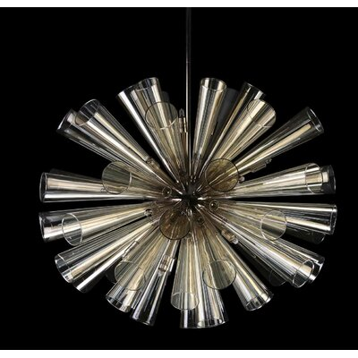 15-Light Cluster Pendant Finish: Polished Nickel
