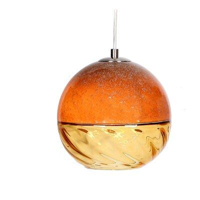 Encalmo 2 Geometric Pendant Shade Color: Orange
