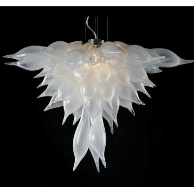 3-Light Radiant Chandelier Shade Color: Clear