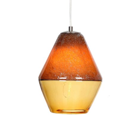 Encalmo 1-Light Mini Pendant Shade Color: Orange