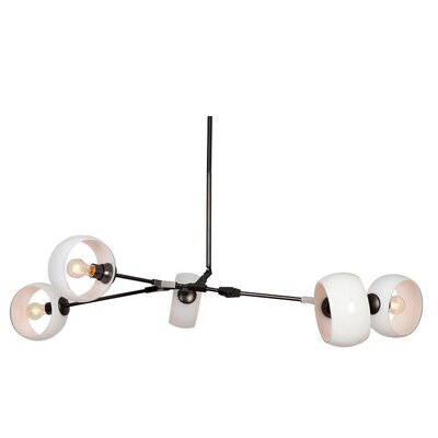 Constellation 5-Light Cascade Pendant Shade Color: White