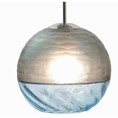 Encalmo 1-Light Globe Pendant Shade Color: Aqua