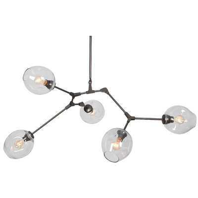 Constellation 5-Light Cascade Pendant Shade Color: Clear