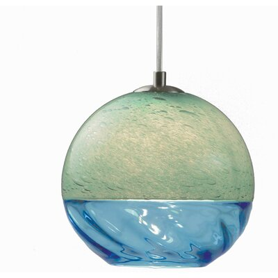 Encalmo 2-Light Globe Pendant Shade Color: Aqua