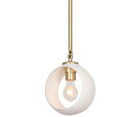 Constellation 1-Light Mini Pendant Shade Color: White