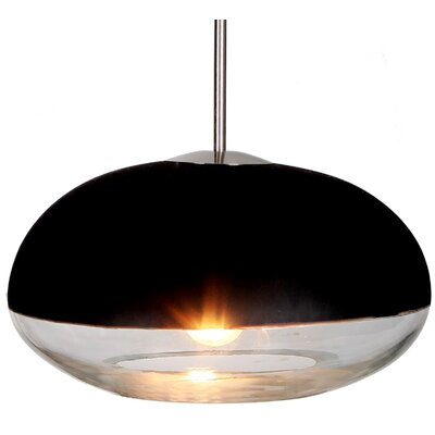 Encalmo 1-Light Schoolhouse Pendant Shade Color: Black