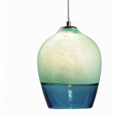 Encalmo 2-Light Mini Pendant Shade Color: Aqua