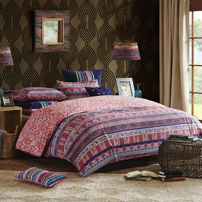 Katina 3 Piece Duvet Cover Set Size: Queen