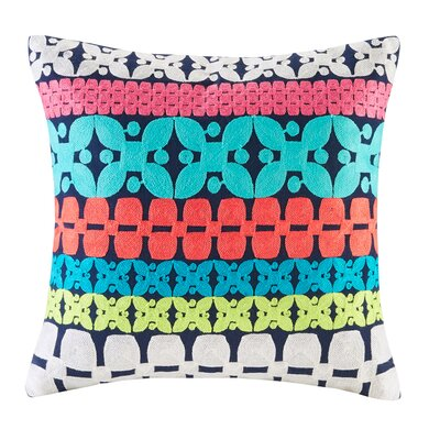 Mix and Match Embroidery Cotton Throw Pillow