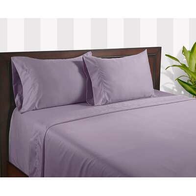 Color Sense Silky Touch 400 Thread Count Egyptian Cotton Sheet Set - Size: Full Color: Lavender
