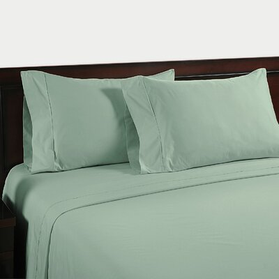 Velvet Touch 400 Thread Count Cotton Sheet Set Size: Full, Color: Blue