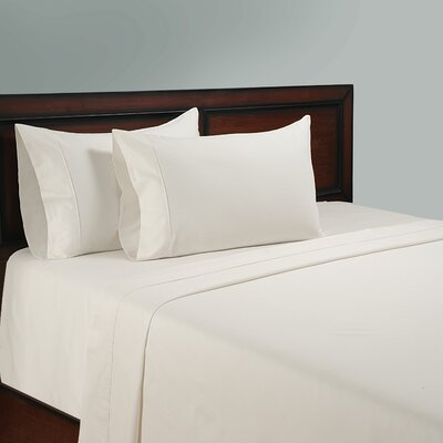 325 Thread Count Cotton Sheet Set Color: White, Size: Queen