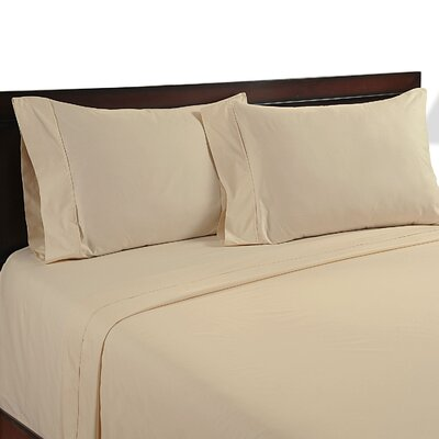 Velvet Touch 400 Thread Count Cotton Sheet Set Size: Full, Color: Beige
