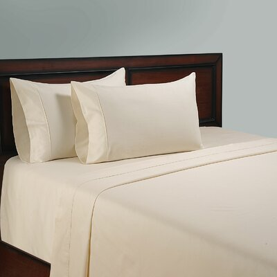 325 Thread Count Cotton Sheet Set Color: Ivory, Size: Full