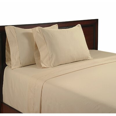 Cool Touch 400 Thread Count Cotton Sheet Set Color: Beige, Size: Queen