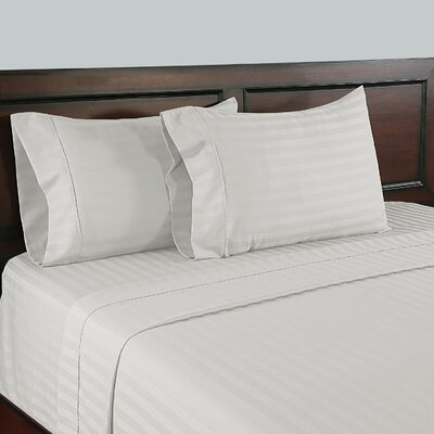 310 Thread Count Wrinkle Free Sheet Set Size: Full, Color: White