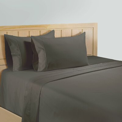 325 Thread Count Cotton Sheet Set Color: Grey, Size: Queen