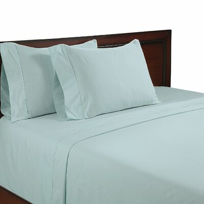 Cool Touch 400 Thread Count Cotton Sheet Set Color: Teal Blue, Size: King