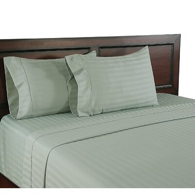 310 Thread Count Wrinkle Free Sheet Set Size: King, Color: Green