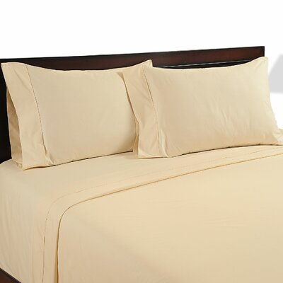 Velvet Touch 400 Thread Count Cotton Sheet Set Color: Ivory, Size: Queen