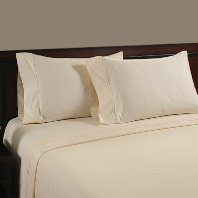 Cool Touch 400 Thread Count Cotton Sheet Set Color: Ivory, Size: King