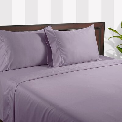 Silky Touch 400 Thread Count Cotton Sheet Set Color: Lavender, Size: King