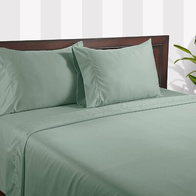 Silky Touch 400 Thread Count Cotton Sheet Set Color: Green, Size: King