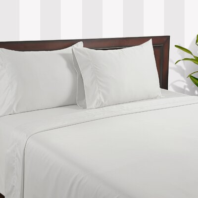 Silky Touch 400 Thread Count Cotton Sheet Set Color: White, Size: Queen