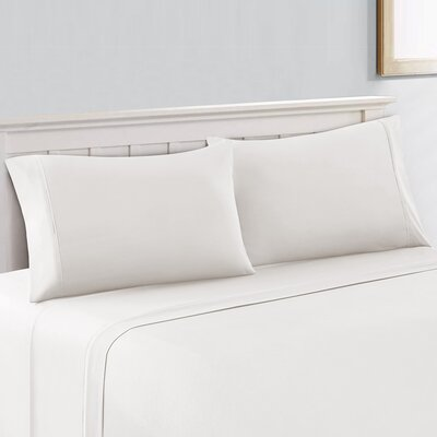 Silky Touch 400 Thread Count 100% Cotton Sheet Set Size: Full, Color: White