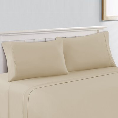 Silky Touch 400 Thread Count 100% Cotton Sheet Set Size: King, Color: Light Beige