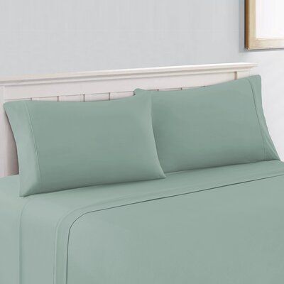 Silky Touch 400 Thread Count 100% Cotton Sheet Set Size: Queen, Color: Green