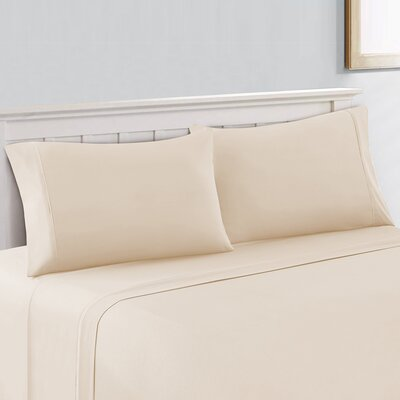Cool Touch 400 Thread Count Cotton Sheet Set Size: Queen, Color: Ivory