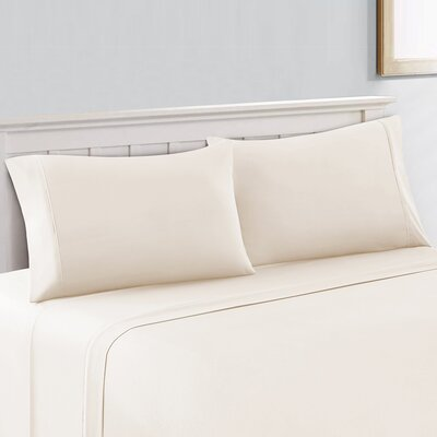 Cool Touch 400 Thread Count Cotton Sheet Set Size: Full, Color: White