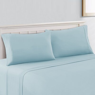 Cool Touch 400 Thread Count 100% Cotton Sheet Set Size: King, Color: Teal Blue