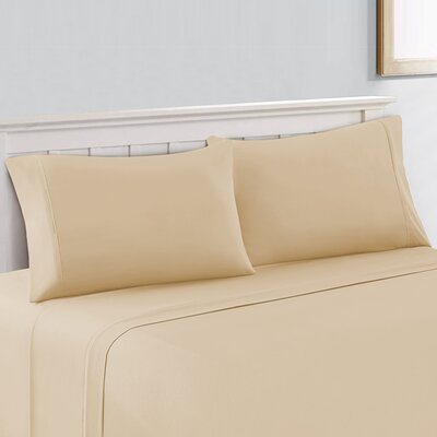 Cool Touch 400 Thread Count 100% Cotton Sheet Set Size: Queen, Color: Beige