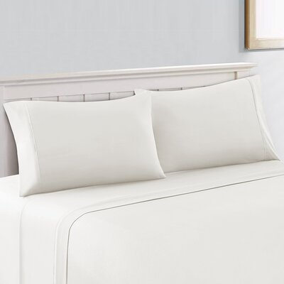 400 Thread Count 100% Cotton Sheet Set Size: King, Color: White