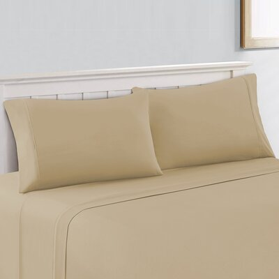 400 Thread Count 100% Cotton Sheet Set Size: Full, Color: Beige