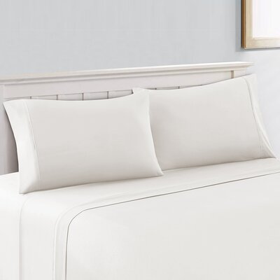 600 Thread Count Cotton Sheet Set Size: Queen, Color: White