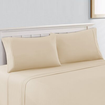 600 Thread Count 100% Cotton Sheet Set Size: King, Color: Ivory
