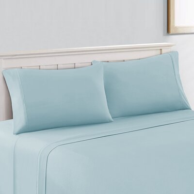 600 Thread Count Cotton Sheet Set Size: Queen, Color: Blue