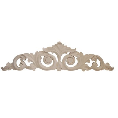 Scrolled Leaf Overdoor Wall Décor Finish: Bright White