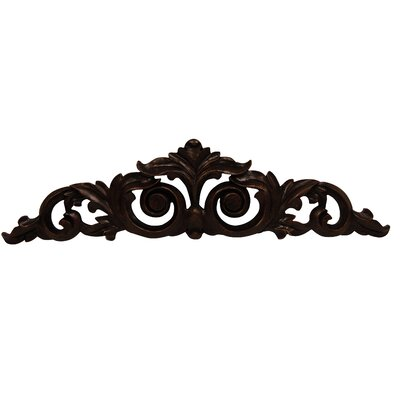Scrolled Leaf Overdoor Wall Décor Finish: Napoleon