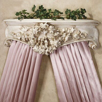 Floral Wreath Bedcrown Finish: Old World White