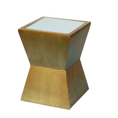 Alex End Table Color: Gold Leaf