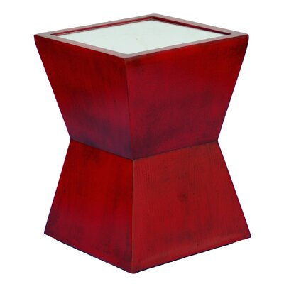 Alex End Table Color: Antique Chinese Red